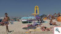 пляж и инфраструктура курорта рассейка